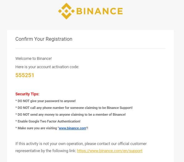 nhận mã xác thực tài khoản