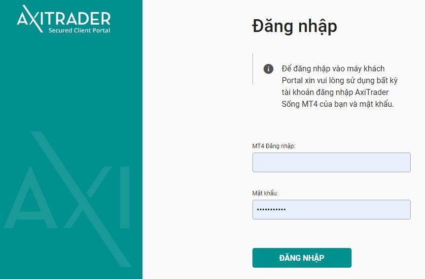 Hướng dẫn nạp tiền vào tài khoản giao dịch sàn AxiTrader [2020]