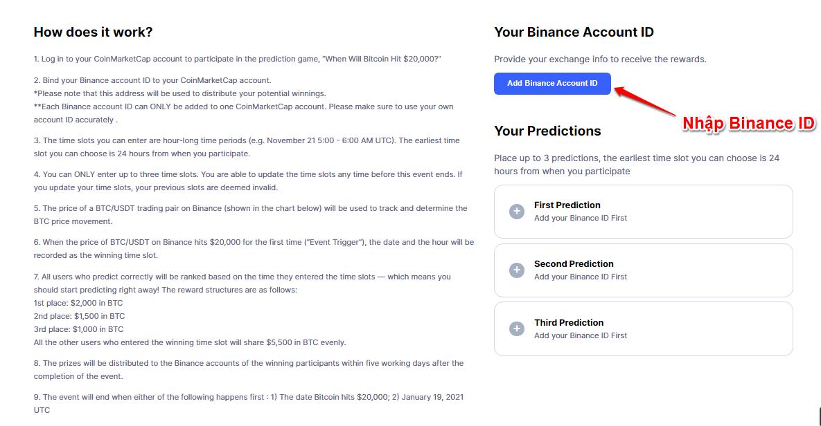 Tham gia dự đoán giá Bitcoin khi nào đạt $20.000 - nhận giải thưởng $2000 2