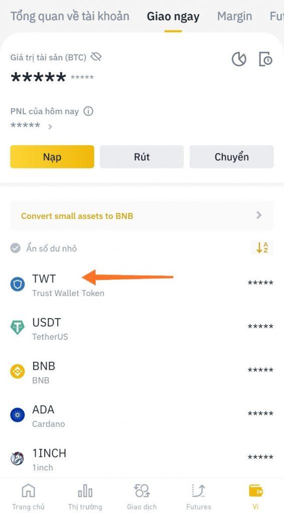 Hướng dẫn cách rút Airdrop Trust Wallet Token (TWT) trên Binance