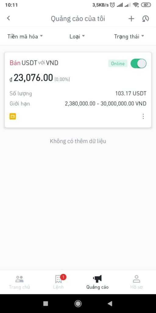Rút tiền từ Binance về tài khoản ngân hàng