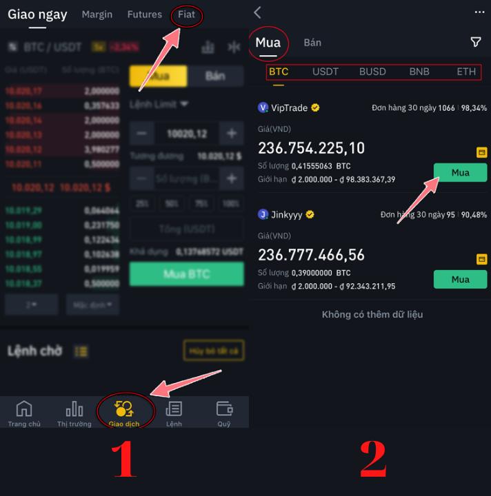 Hướng dẫn mua Bitcoin trên Binance đơn giản 8