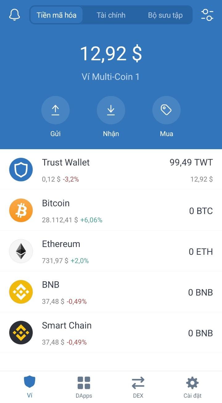 Hướng dẫn cách rút Trust Wallet Token trên Binance 2